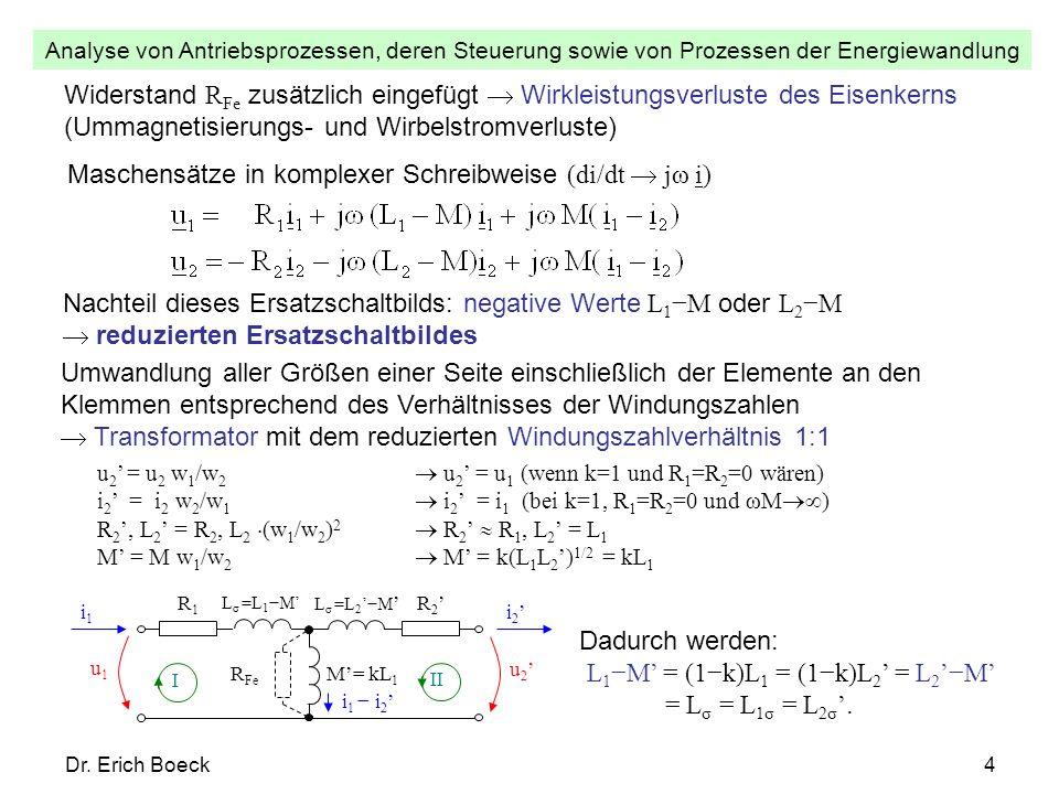 Maschensätze in komplexer Schreibweise (di/dt  jω i)