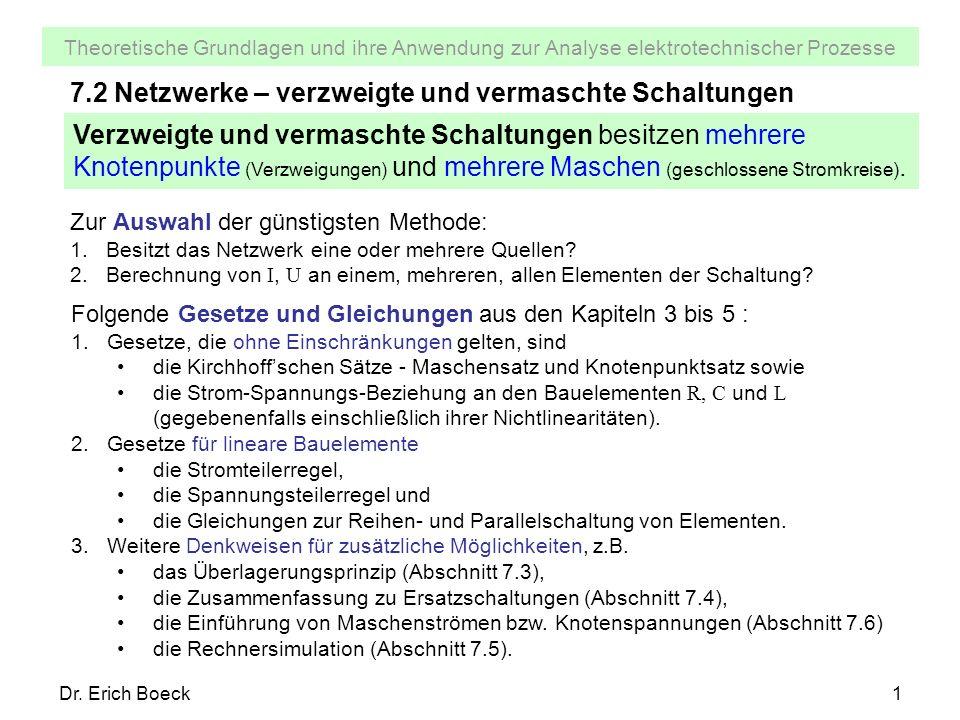 7.2 Netzwerke – verzweigte und vermaschte Schaltungen - ppt video ...