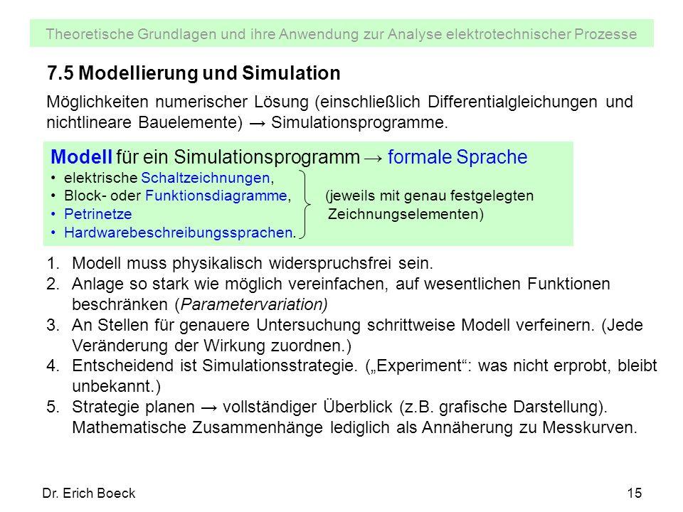 7.5 Modellierung und Simulation