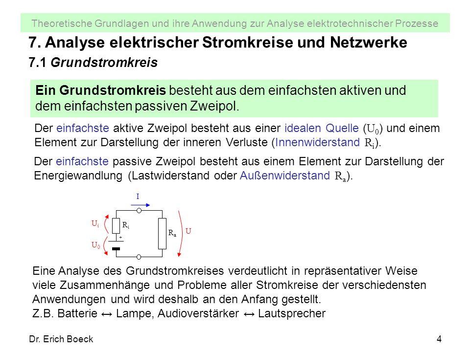 7. Analyse elektrischer Stromkreise und Netzwerke