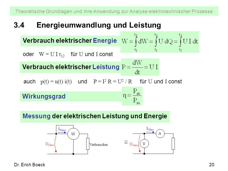 3.4 Energieumwandlung und Leistung