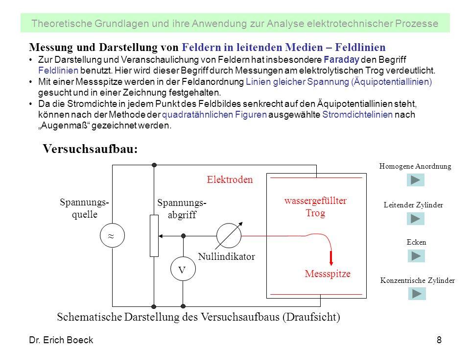 Messung und Darstellung von Feldern in leitenden Medien – Feldlinien