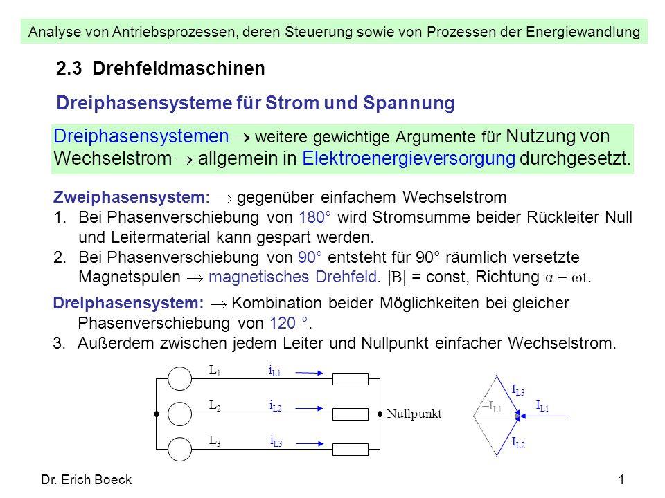 Dreiphasensysteme für Strom und Spannung