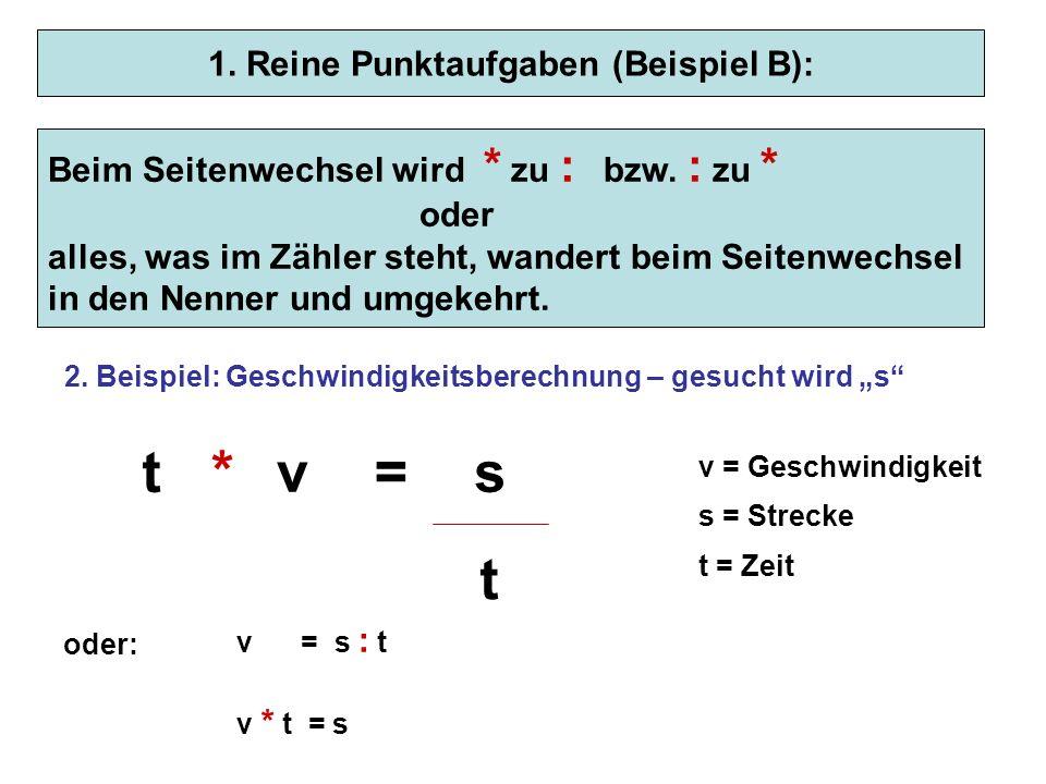 1. Reine Punktaufgaben (Beispiel B):