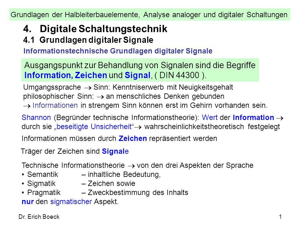 4. Digitale Schaltungstechnik