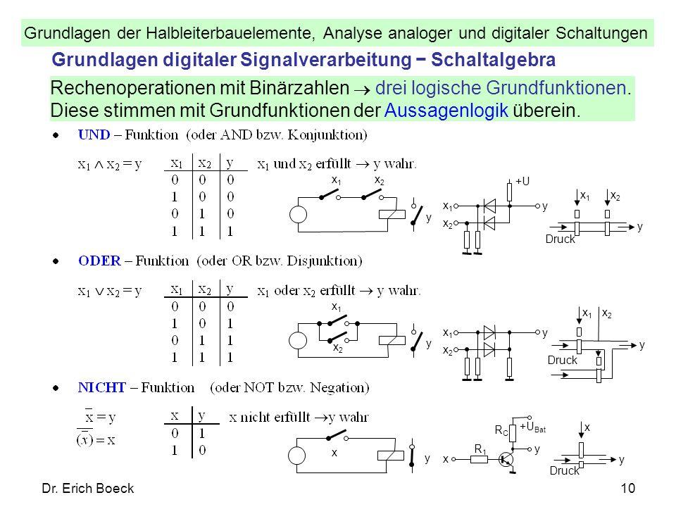 Grundlagen digitaler Signalverarbeitung − Schaltalgebra