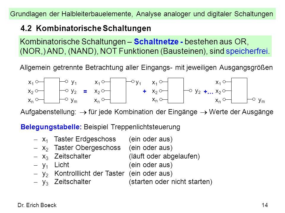 4.2 Kombinatorische Schaltungen