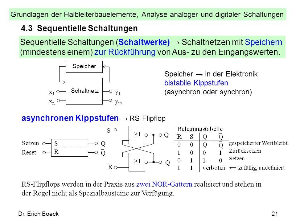 4.3 Sequentielle Schaltungen