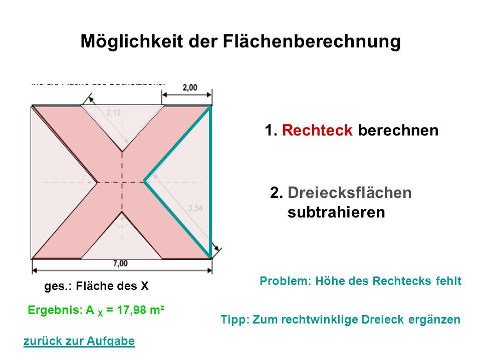 höhe eines dreiecks berechnen