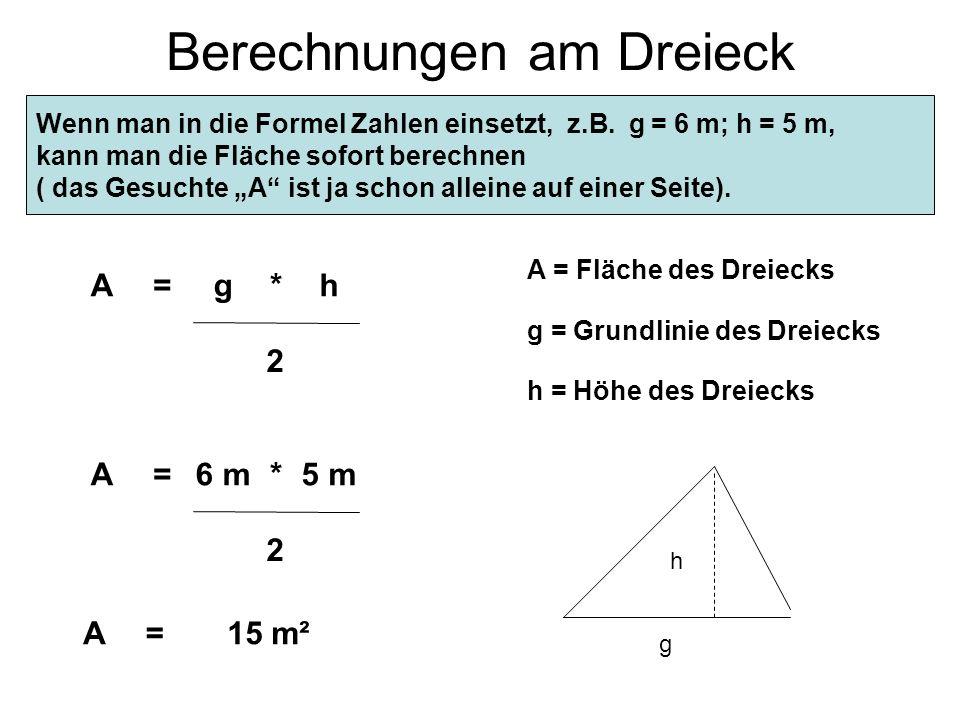 Berechnungen am Dreieck