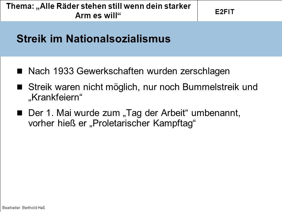 Streik im Nationalsozialismus
