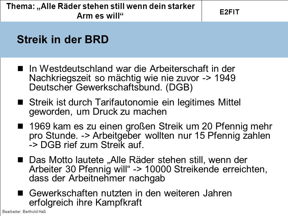 Streik in der BRD