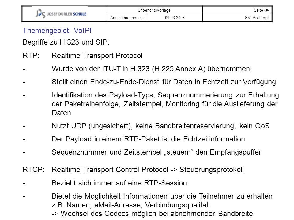 RTP: Realtime Transport Protocol