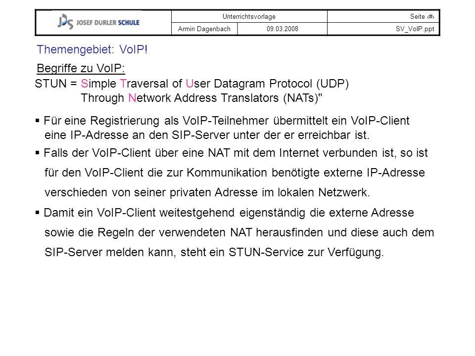Themengebiet: VoIP! Begriffe zu VoIP: