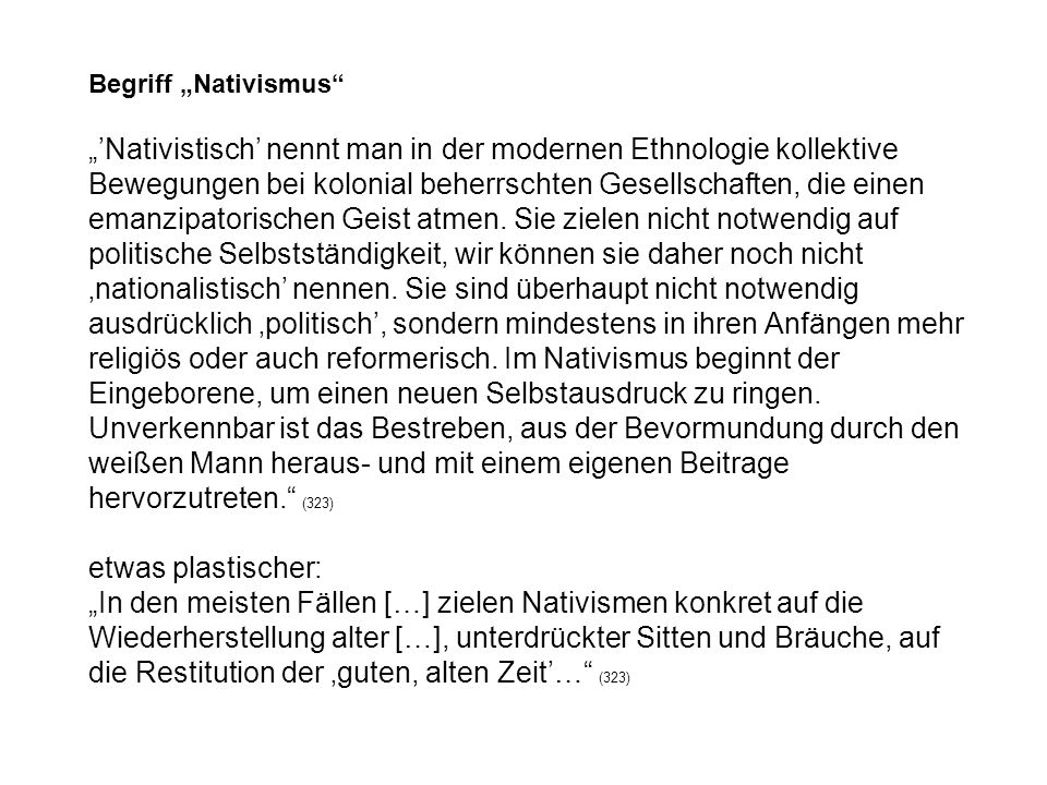 """Begriff """"Nativismus"""