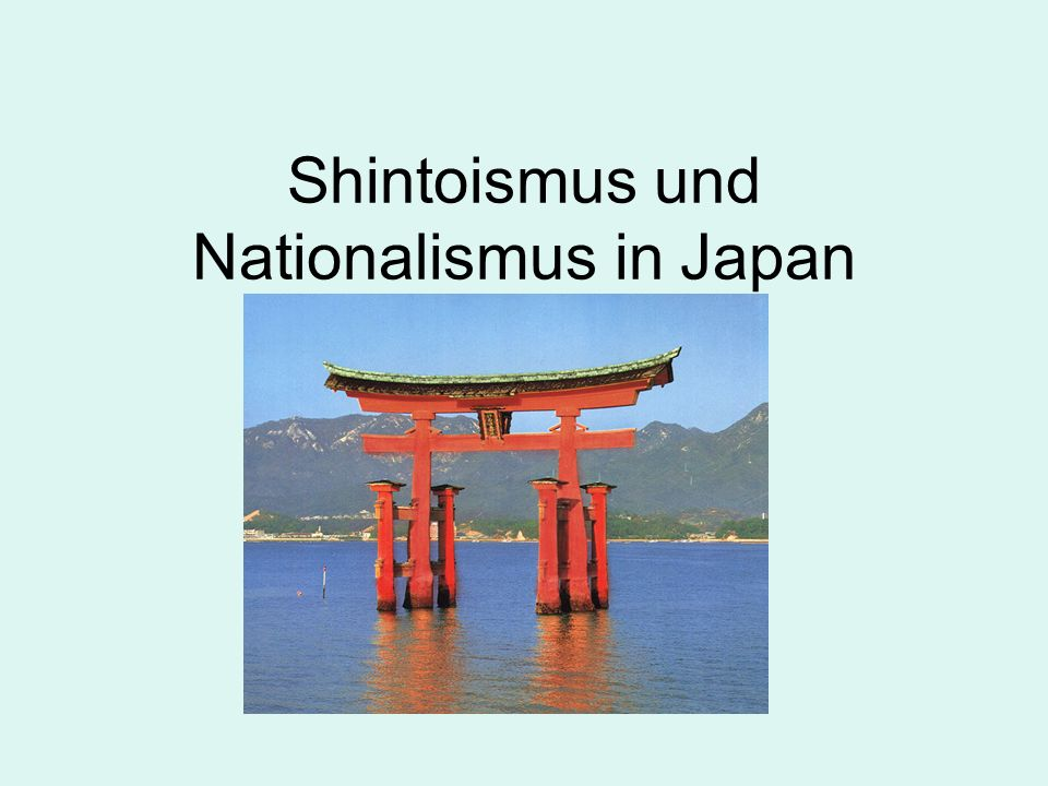 Shintoismus und Nationalismus in Japan