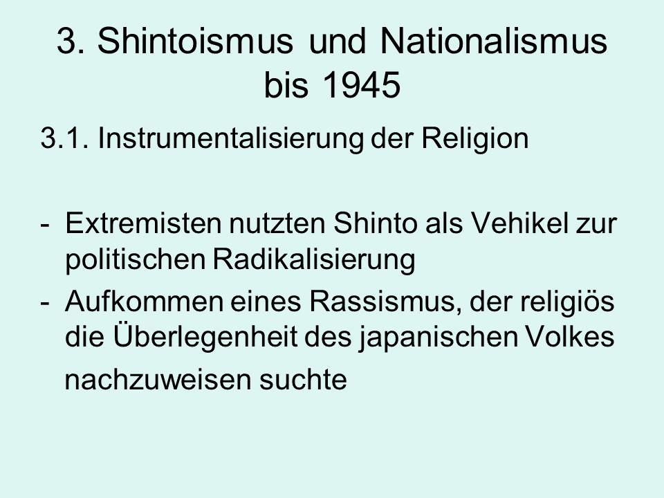 3. Shintoismus und Nationalismus bis 1945