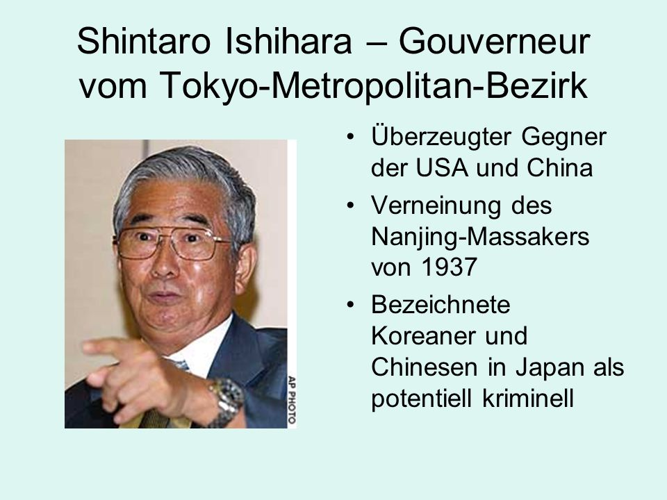 Shintaro Ishihara – Gouverneur vom Tokyo-Metropolitan-Bezirk