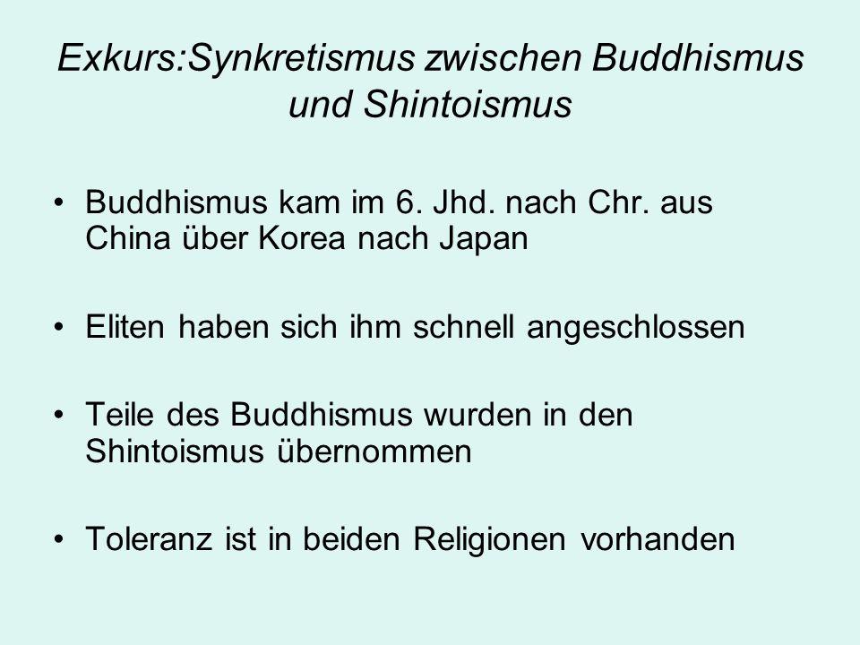 Exkurs:Synkretismus zwischen Buddhismus und Shintoismus