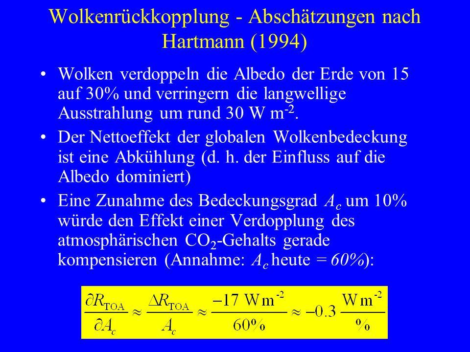 Wolkenrückkopplung - Abschätzungen nach Hartmann (1994)