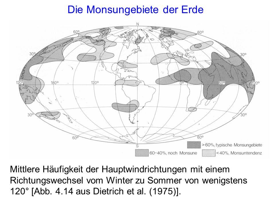 Die Monsungebiete der Erde