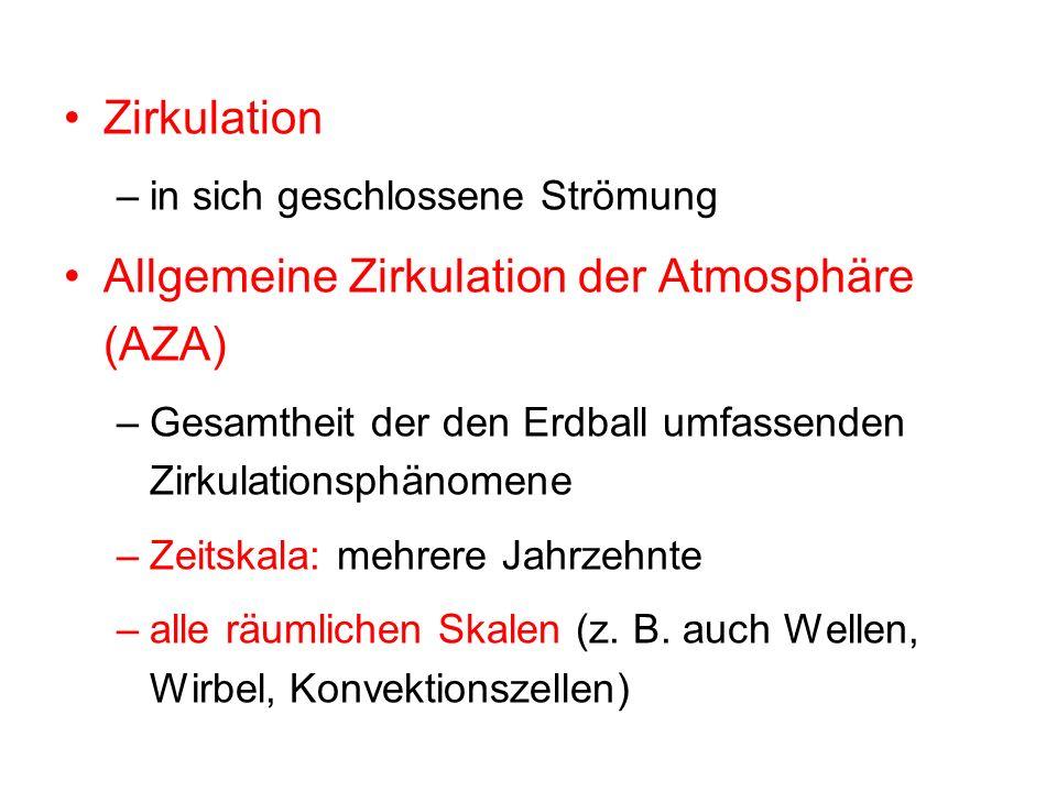 Allgemeine Zirkulation der Atmosphäre (AZA)
