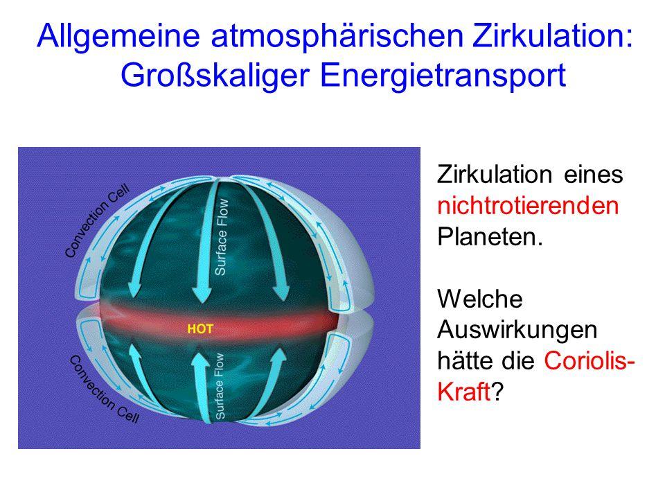 Allgemeine atmosphärischen Zirkulation: Großskaliger Energietransport