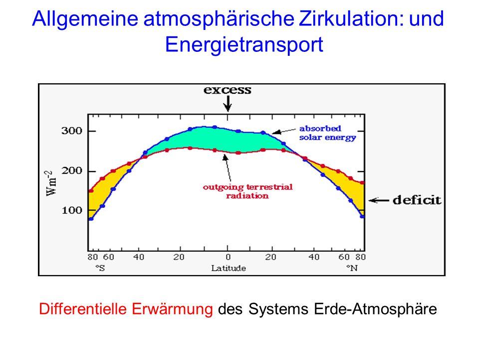 Allgemeine atmosphärische Zirkulation: und Energietransport