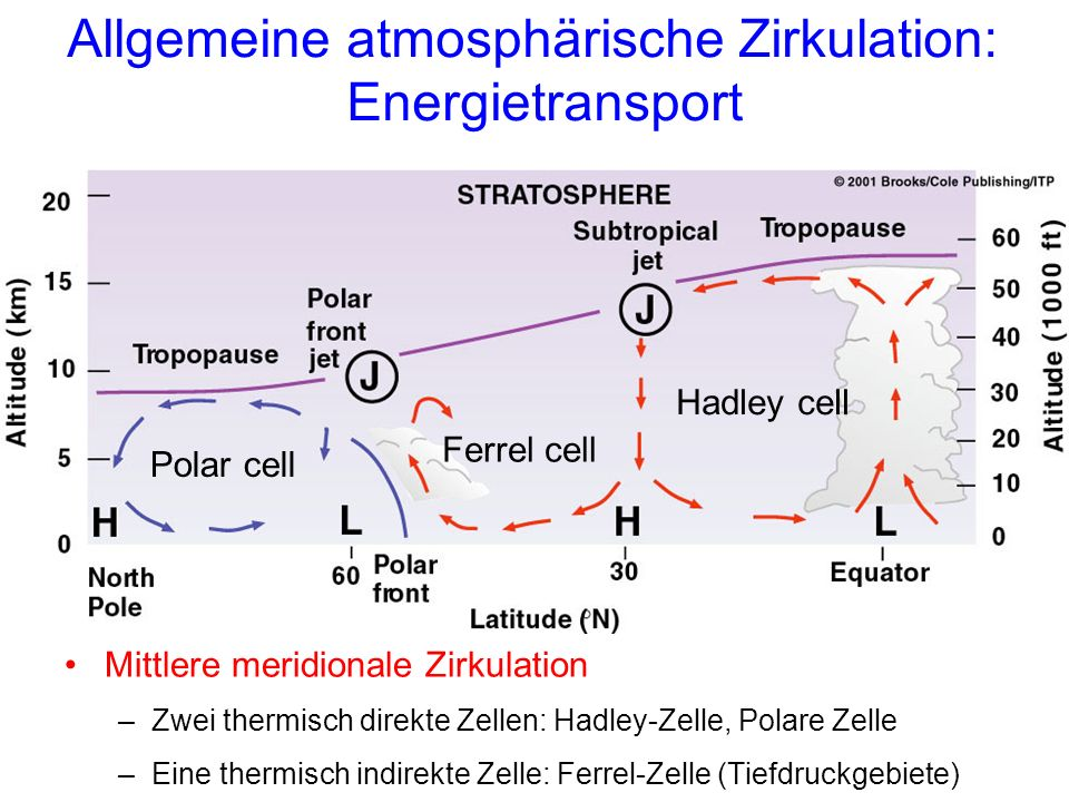 Allgemeine atmosphärische Zirkulation: Energietransport