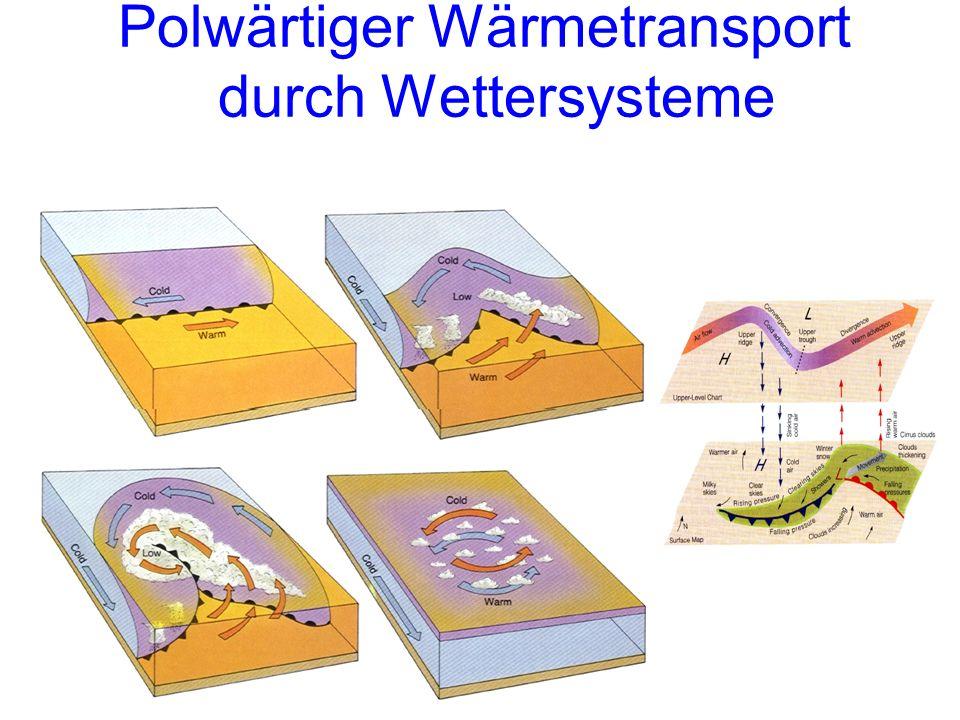 Polwärtiger Wärmetransport durch Wettersysteme