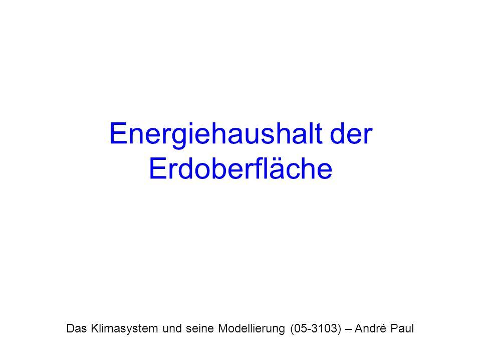 Energiehaushalt der Erdoberfläche
