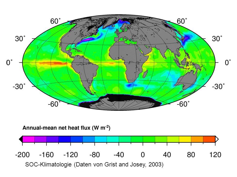 SOC-Klimatologie (Daten von Grist and Josey, 2003)