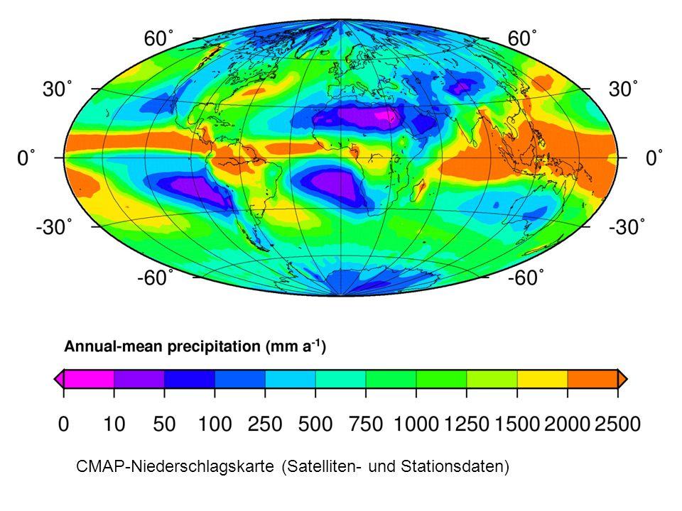CMAP-Niederschlagskarte (Satelliten- und Stationsdaten)