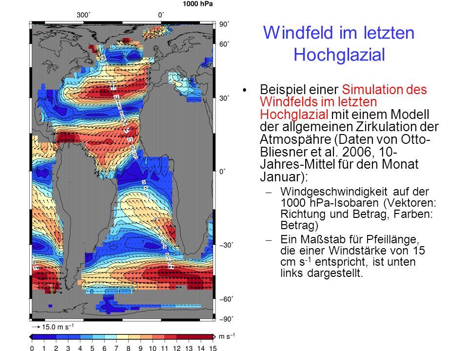 Windfeld im letzten Hochglazial