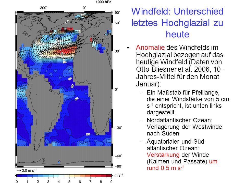 Windfeld: Unterschied letztes Hochglazial zu heute