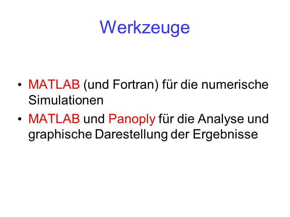 Werkzeuge MATLAB (und Fortran) für die numerische Simulationen