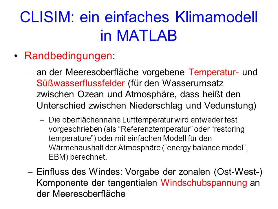 CLISIM: ein einfaches Klimamodell in MATLAB