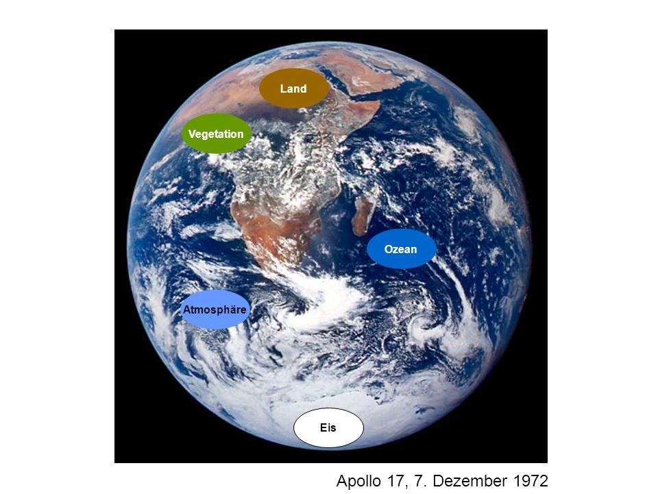 Land Vegetation Ozean Atmosphäre Eis Apollo 17, 7. Dezember 1972 2