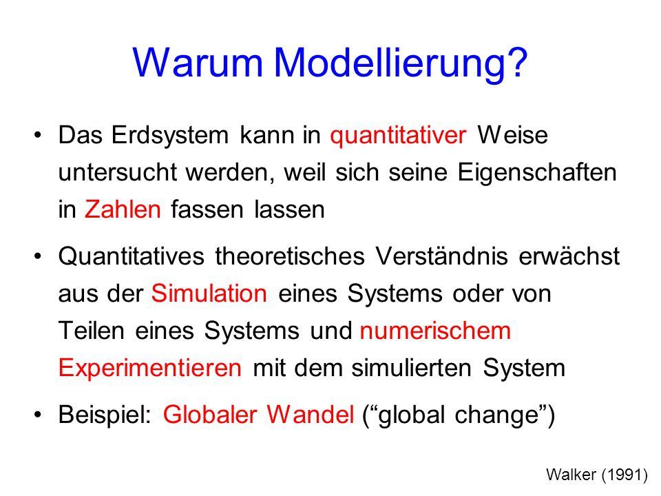 Warum Modellierung Das Erdsystem kann in quantitativer Weise untersucht werden, weil sich seine Eigenschaften in Zahlen fassen lassen.