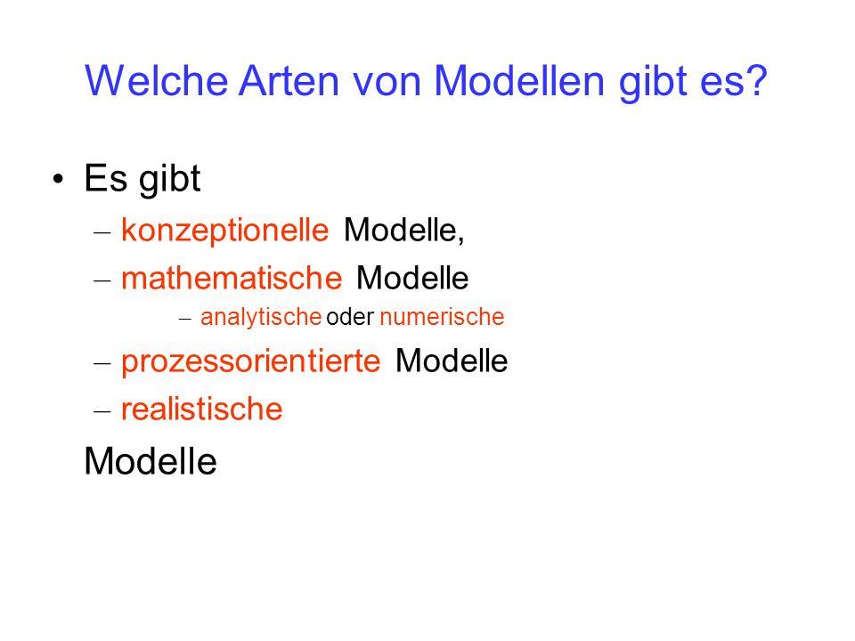 Welche Arten von Modellen gibt es