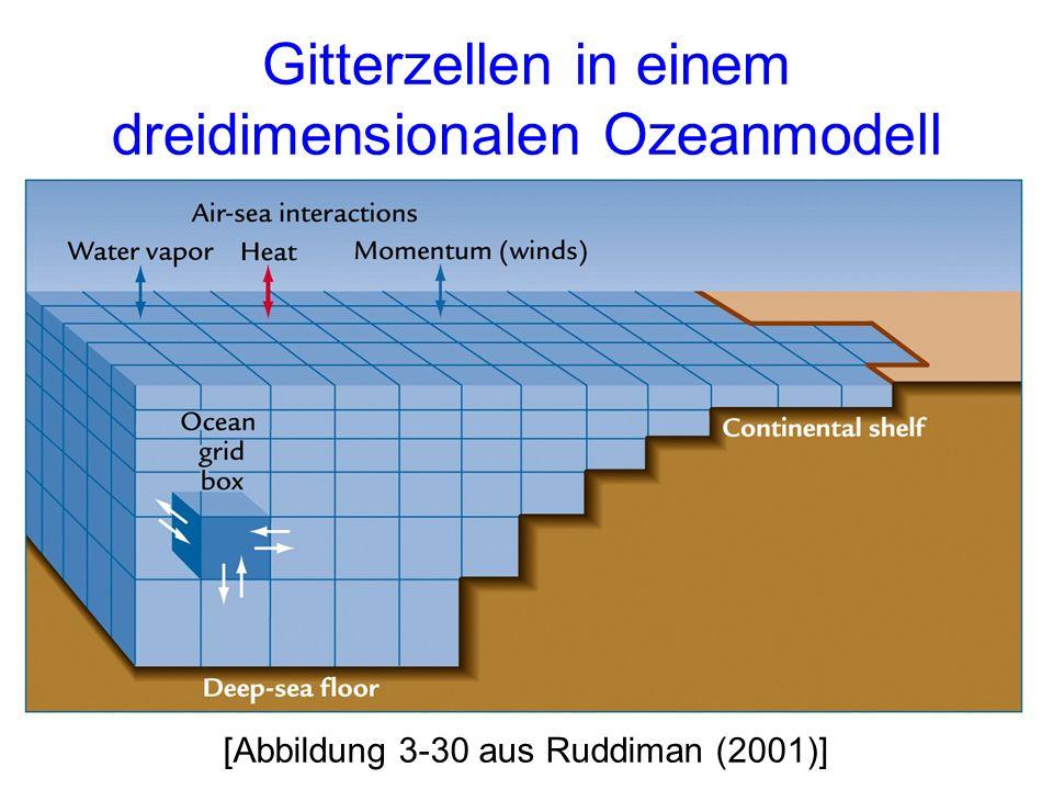 Gitterzellen in einem dreidimensionalen Ozeanmodell