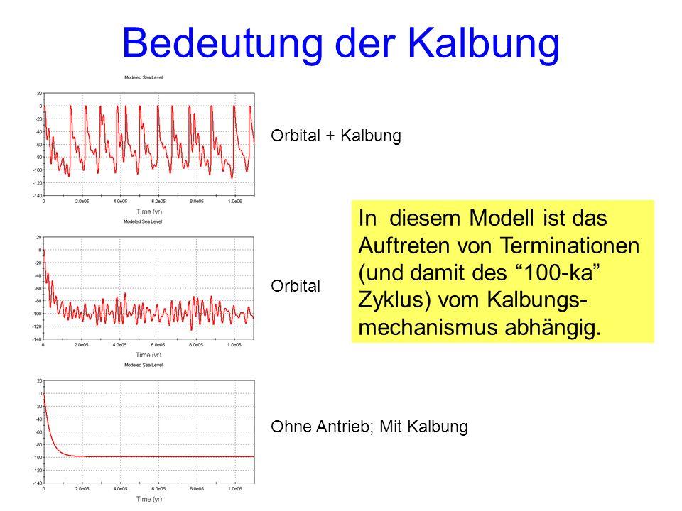 Bedeutung der Kalbung Orbital + Kalbung.