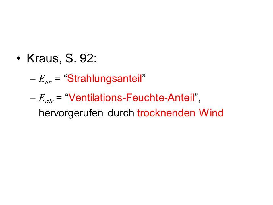 Kraus, S. 92: Een = Strahlungsanteil