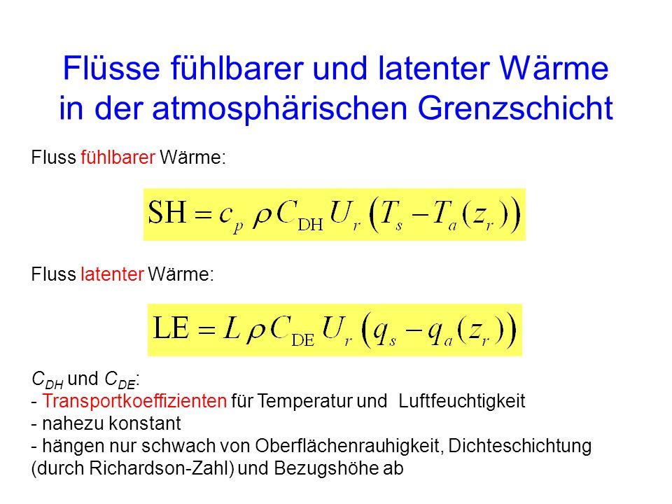 Flüsse fühlbarer und latenter Wärme in der atmosphärischen Grenzschicht