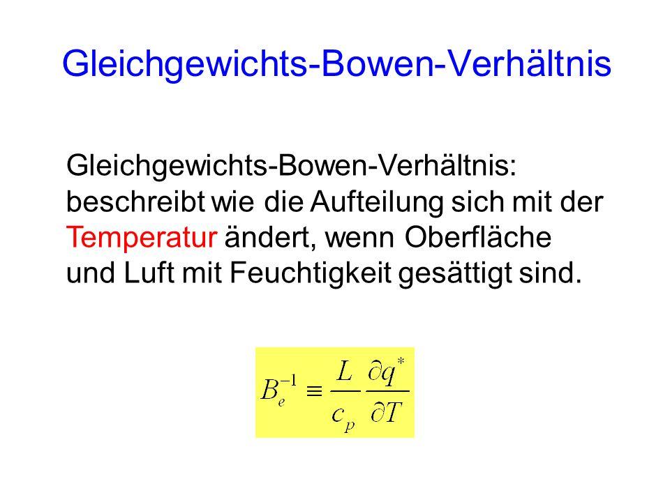 Gleichgewichts-Bowen-Verhältnis