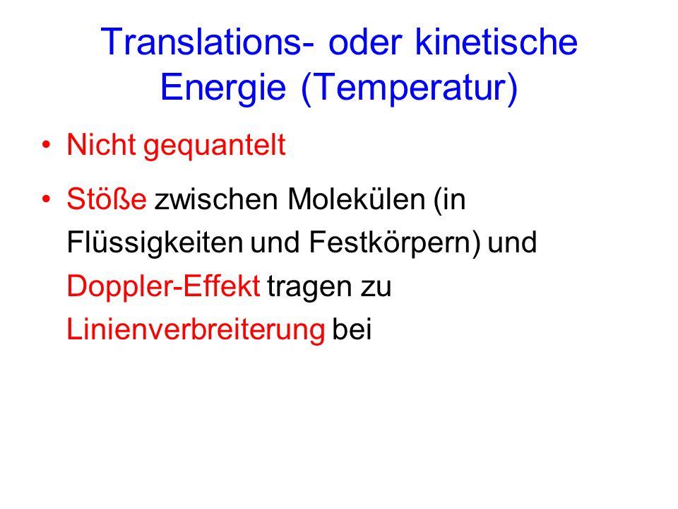 Translations- oder kinetische Energie (Temperatur)