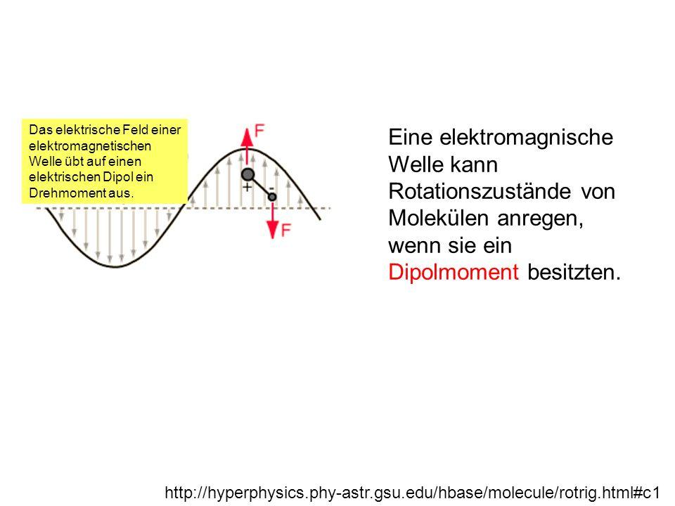 Das elektrische Feld einer elektromagnetischen Welle übt auf einen elektrischen Dipol ein Drehmoment aus.