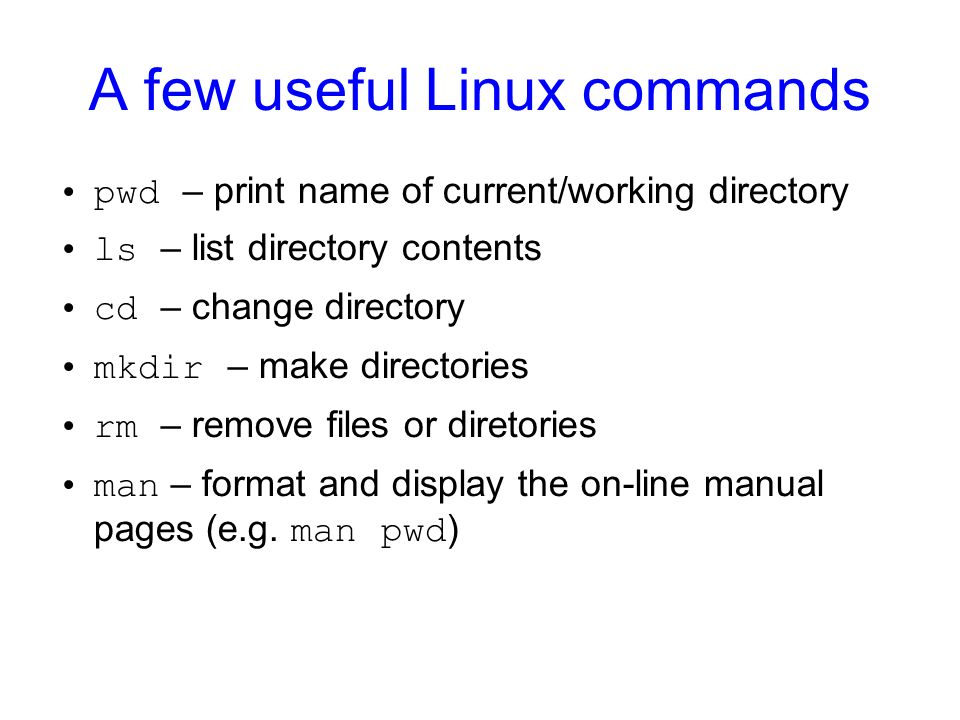 A few useful Linux commands