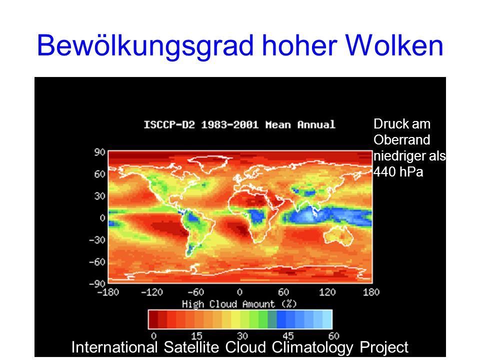 Bewölkungsgrad hoher Wolken
