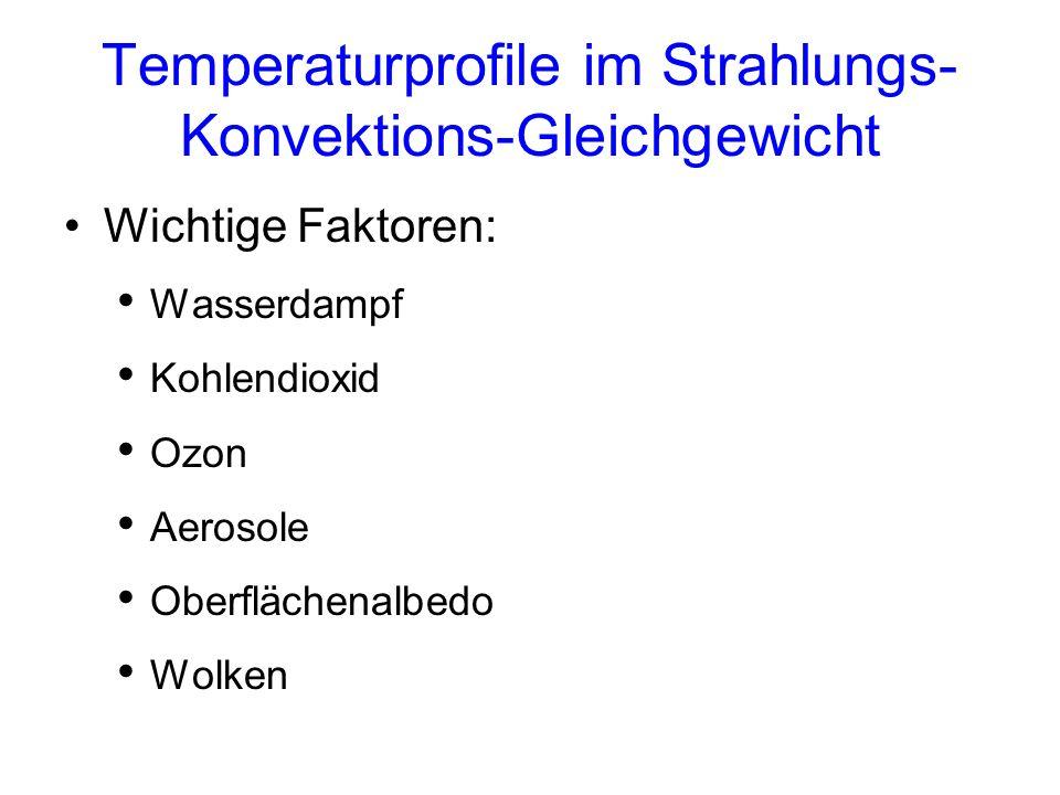 Temperaturprofile im Strahlungs-Konvektions-Gleichgewicht